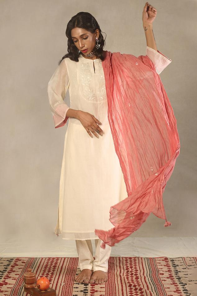 Handwoven Chanderi Kurta Set