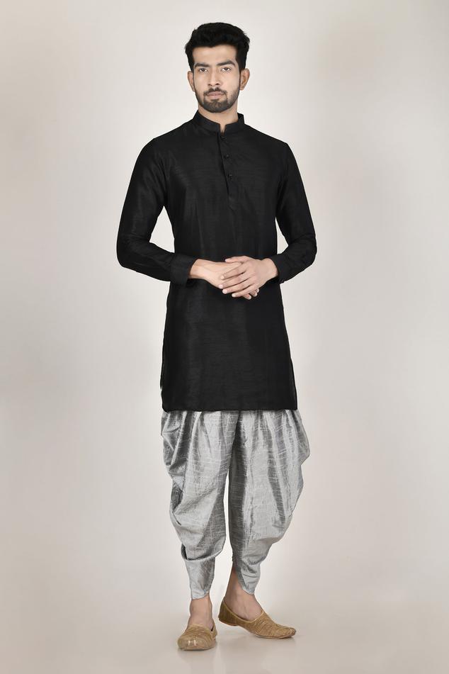 Silk Kurta & Dhoti Pant Set