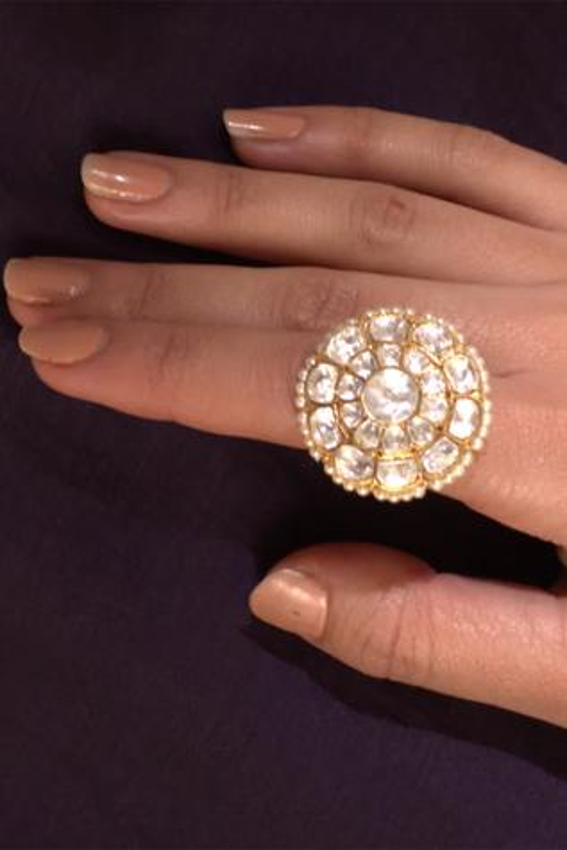 Polki Floral Ring