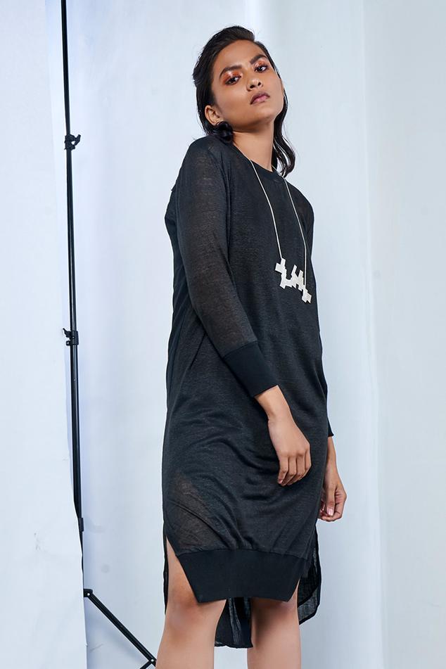 Line Jersey Midi Dress