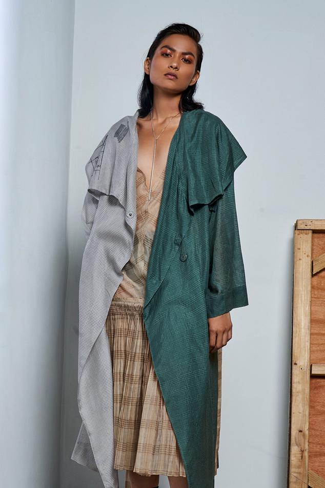 Chanderi Silk Slip Dress