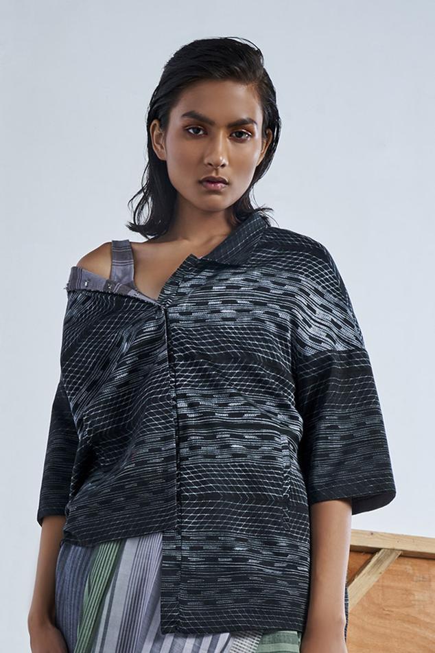 Chanderi Silk Shibori Jacket