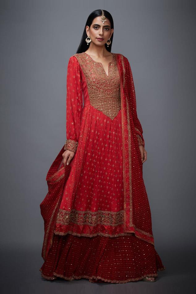 Bandhani Anarkali Set