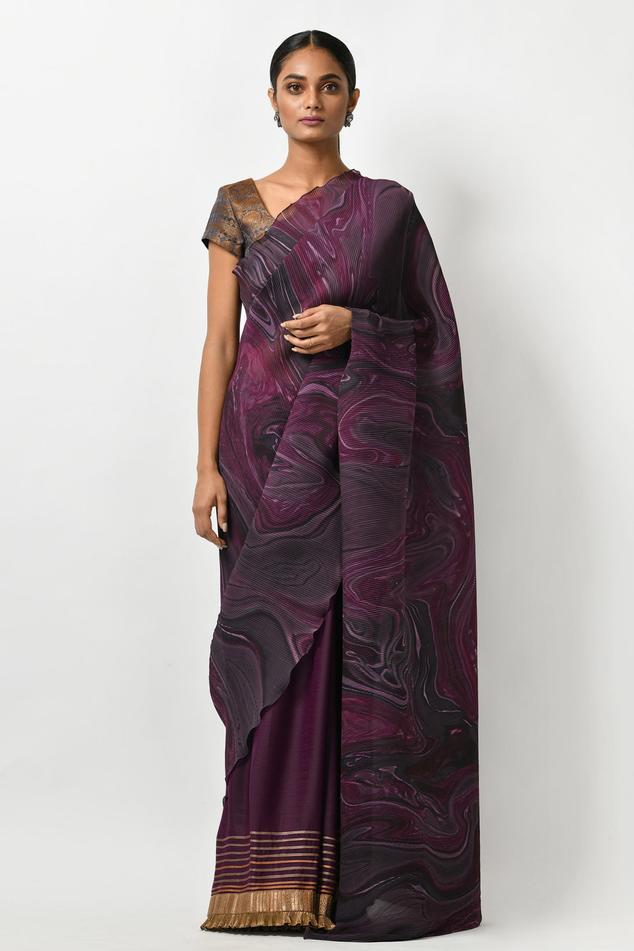 Printed Pleated Saree