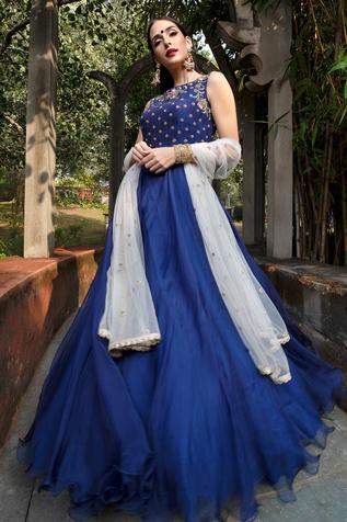 Flared Organza Gown