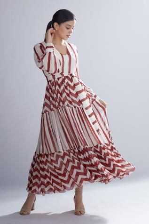 Dabu Print Tiered Maxi Dress