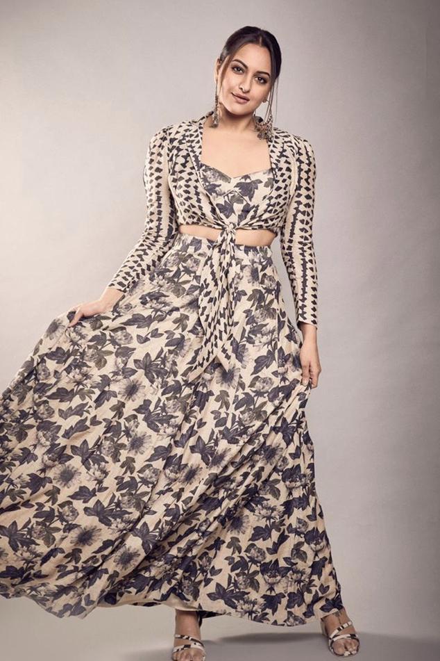 Printed Skirt Set with Jacket