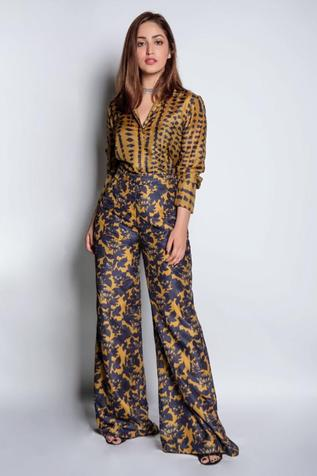Printed Shirt with Flared Pant