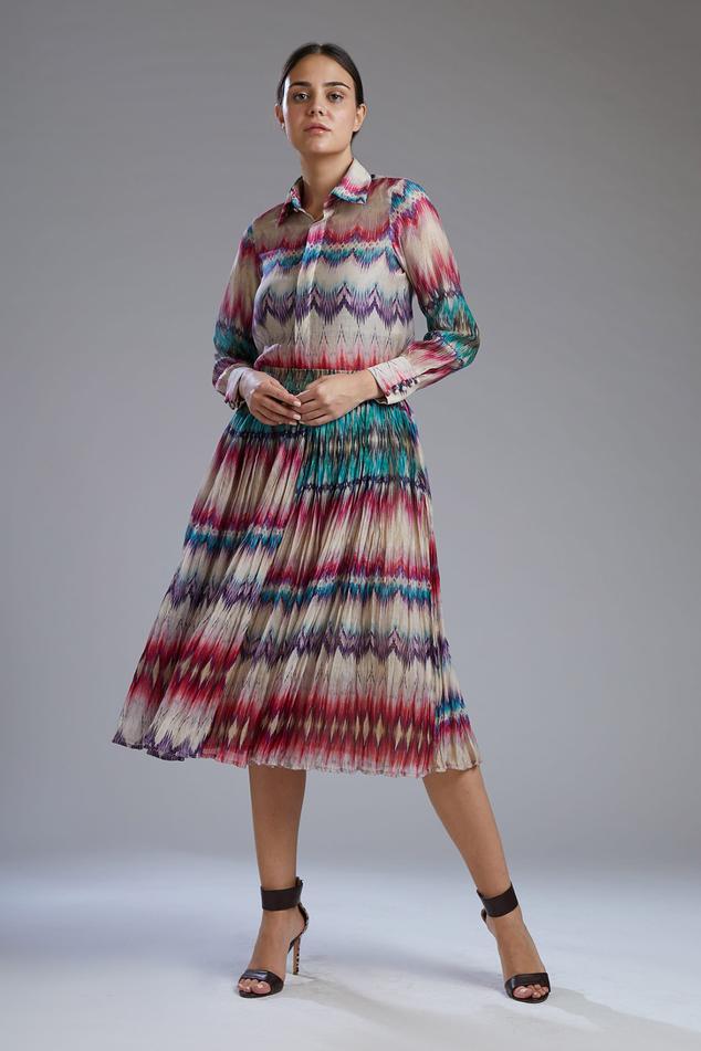 Printed Chanderi Silk Skirt