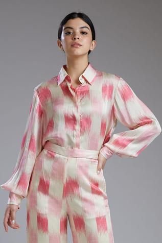 Printed Satin Silk Shirt