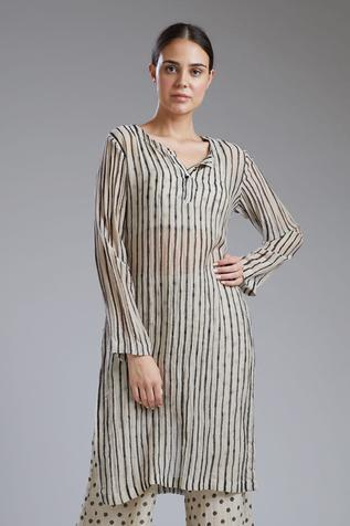 Chanderi Silk Striped Tunic