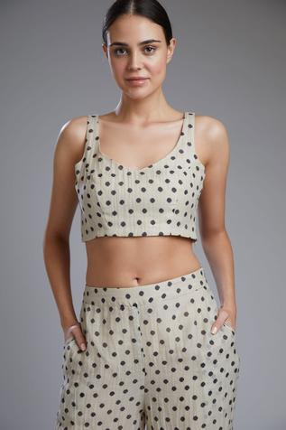 Chanderi Silk Crop Top