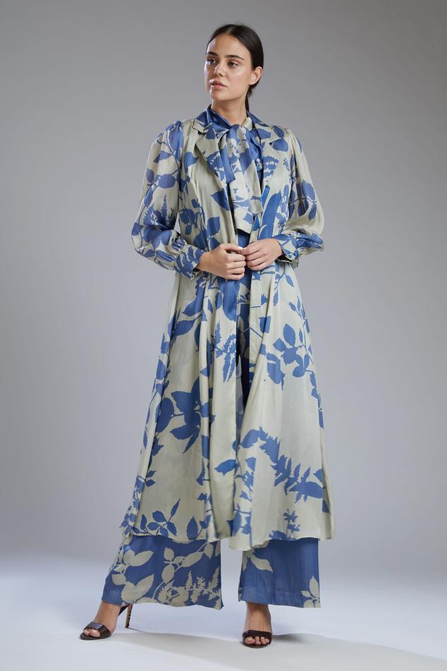 Satin Silk Printed Jacket