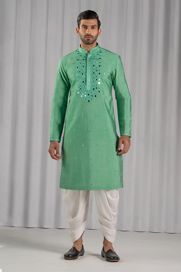 Embroidered Kurta & Dhoti Pant Set