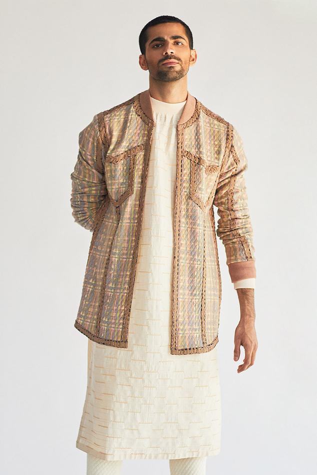 Cotton Jacket & Kurta Set