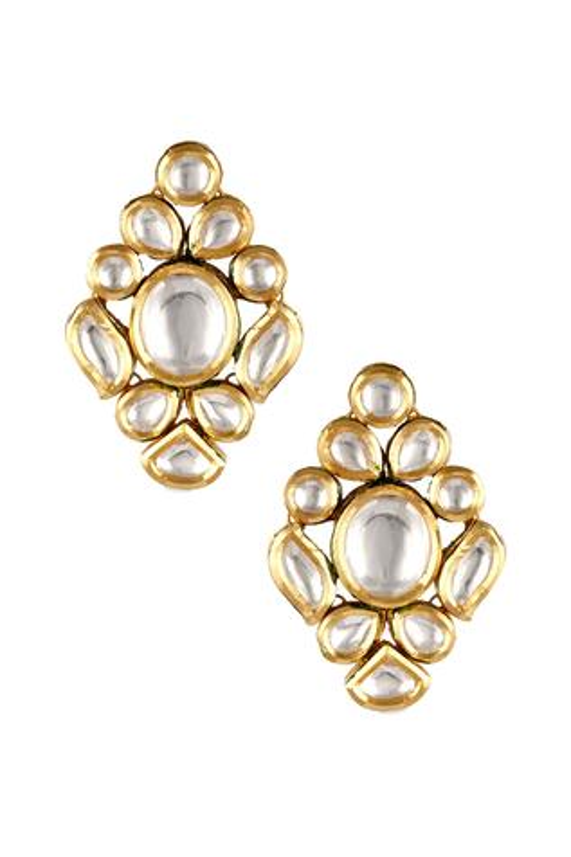 Kundan Floral Stud Earrings