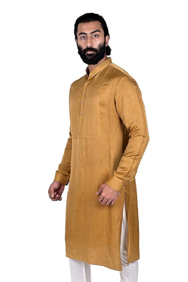 Linen Silk Kurta Set
