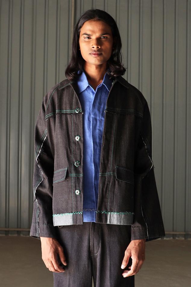 Handloom Cotton Denim Jacket