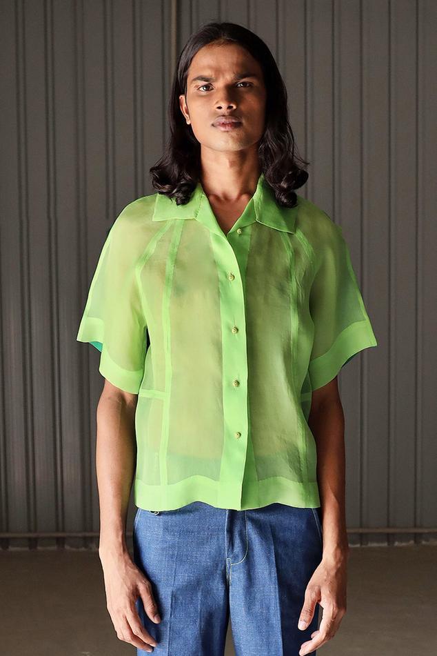 Handwoven Silk Organza Shirt