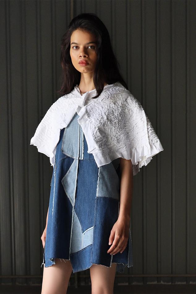 Canvas Denim Patchwork Dress