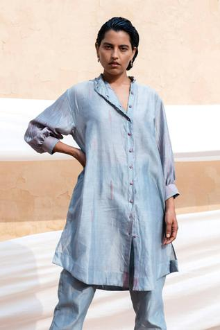 Chanderi Silk Shibori Tunic