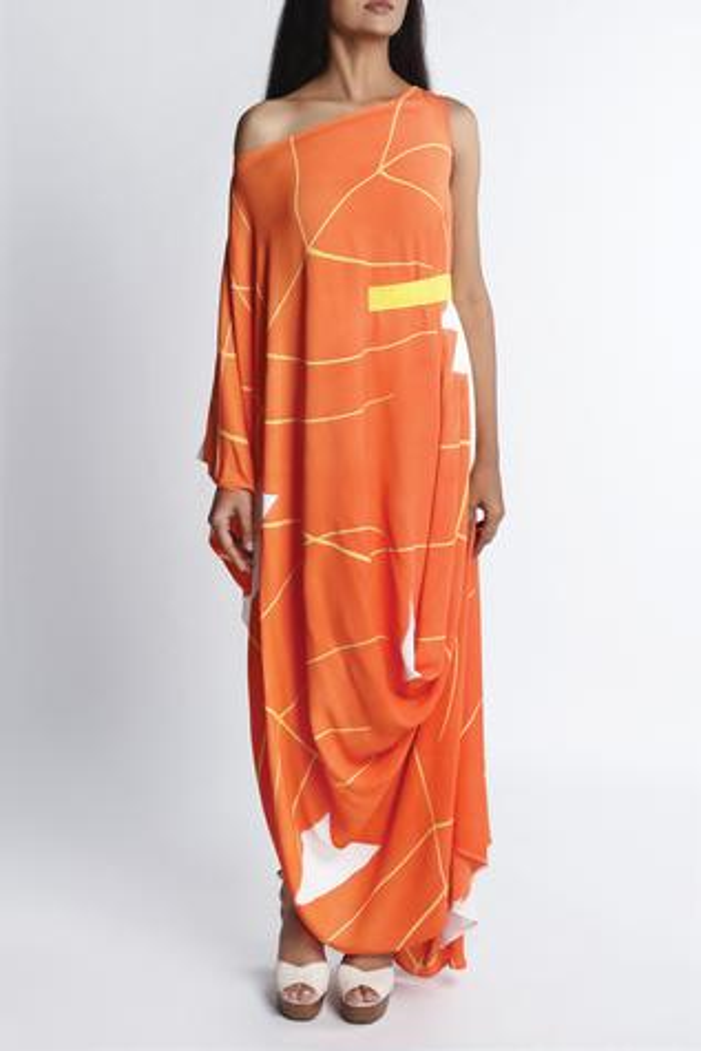 Hand Painted Drop Shoulder Dress