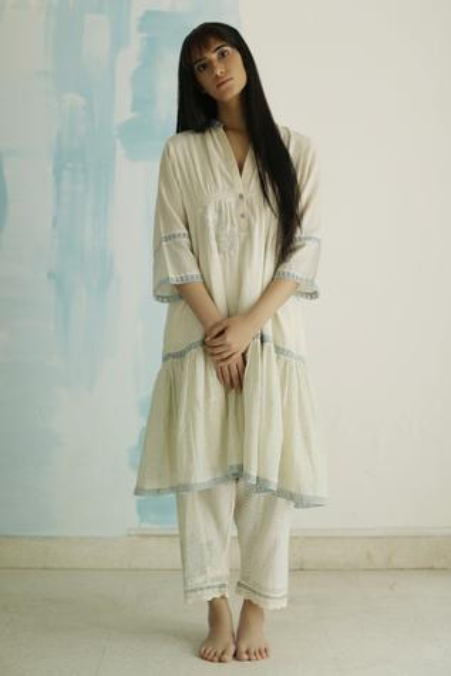 Handloom Cotton Anarkali Set