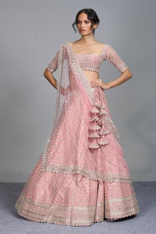 Organza Embroidered Lehenga Set