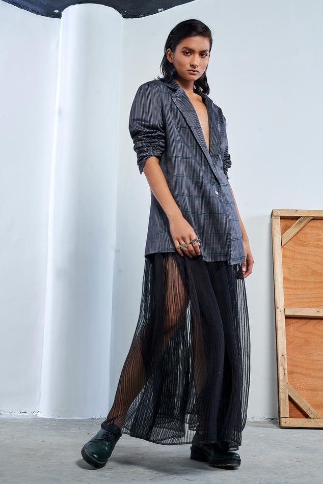 Noil Silk Maxi Skirt