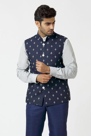 Embroidered Bundi with Shirt & Pant
