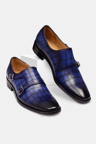 Hand Painted Double Monk Strap Shoes