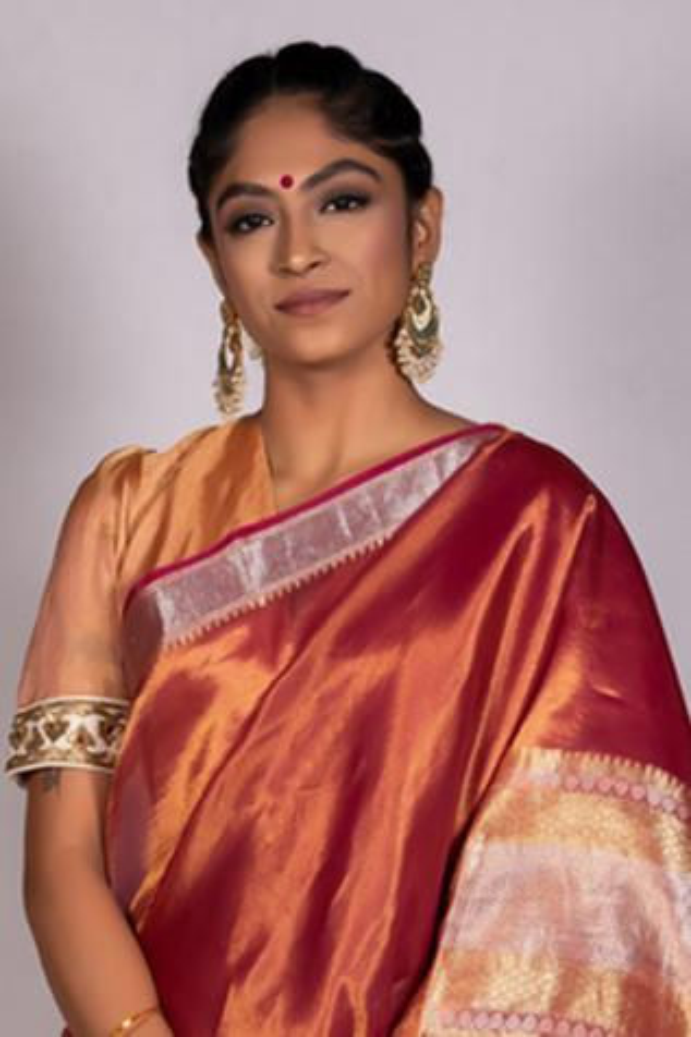 Tissue Puff Sleeve Saree Blouse