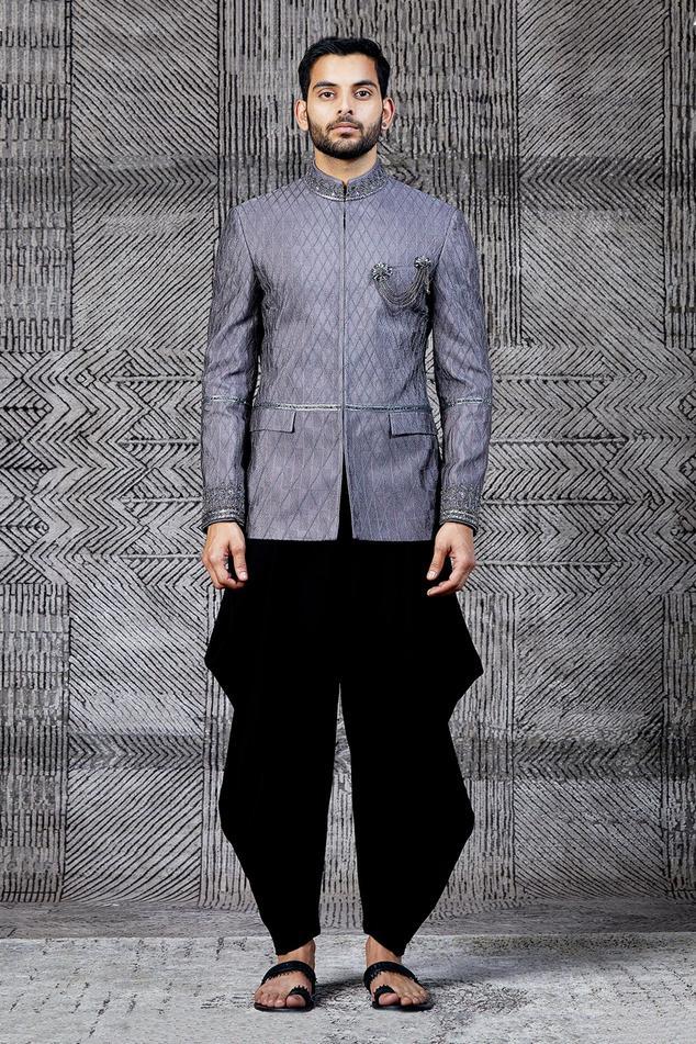 Silk Textured Bandhgala