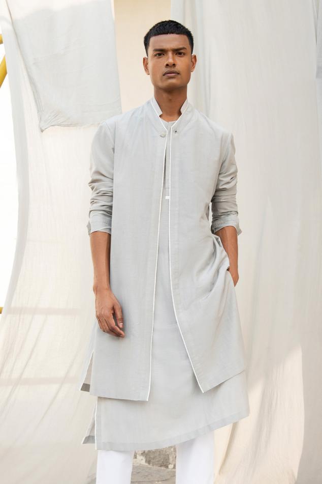 Cotton Silk Layered Kurta