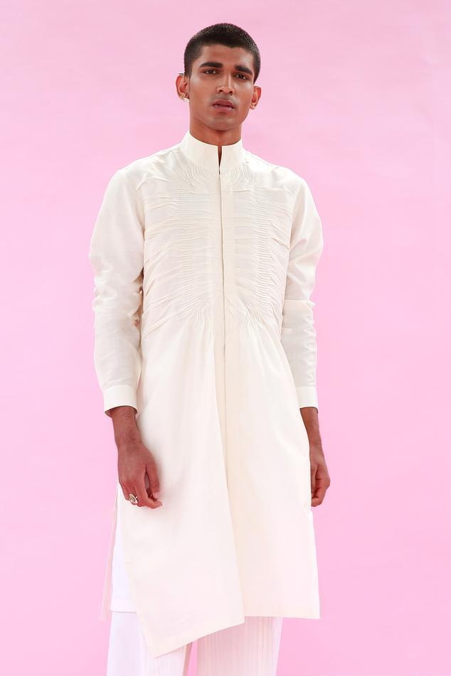 Cotton Silk Asymmetric Kurta