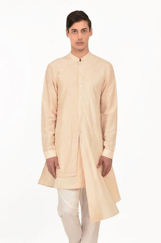 Silk Draped Kurta
