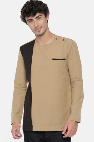 Colorblock Panel Short Kurta