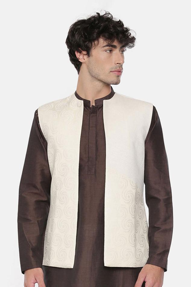 Silk Jacquard Nehru Jacket
