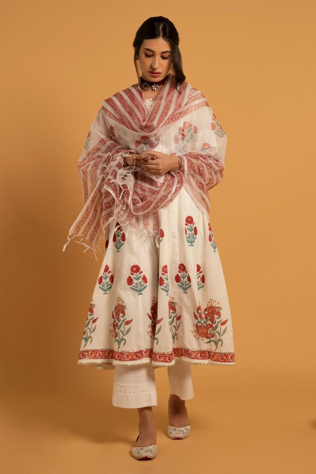 Printed Anarkali Set