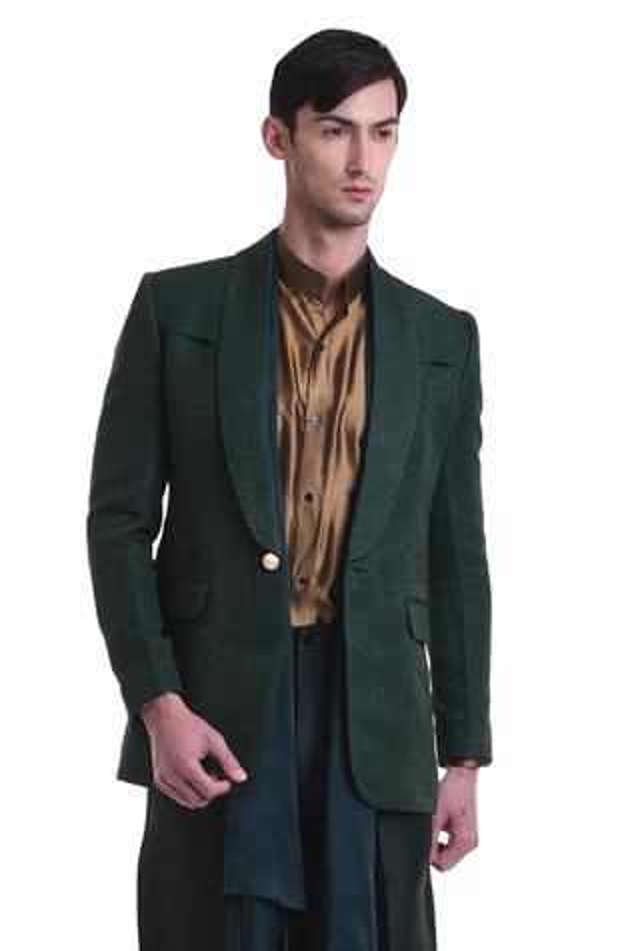 Textured suit & trouser set