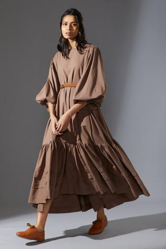 Handwoven Kaavya Aakaar Trapeze Dress