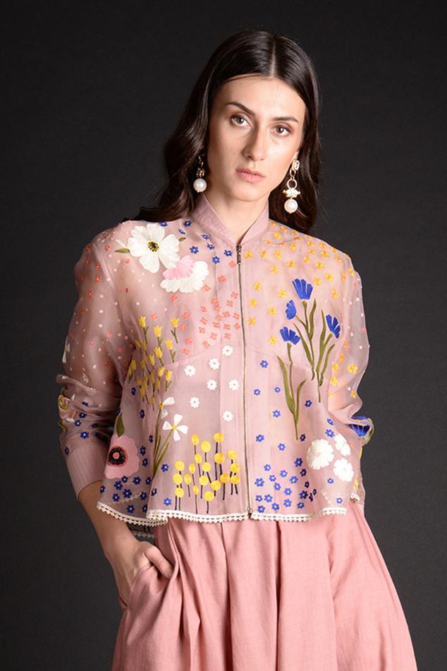 Silk Organza Handcrafted Jacket
