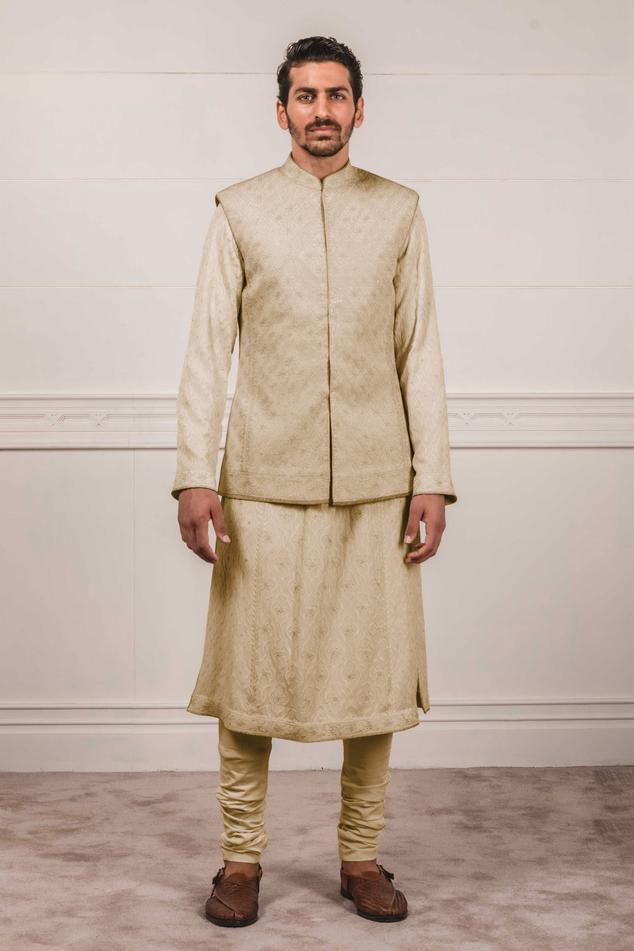 Chikankari Nehru Jacket