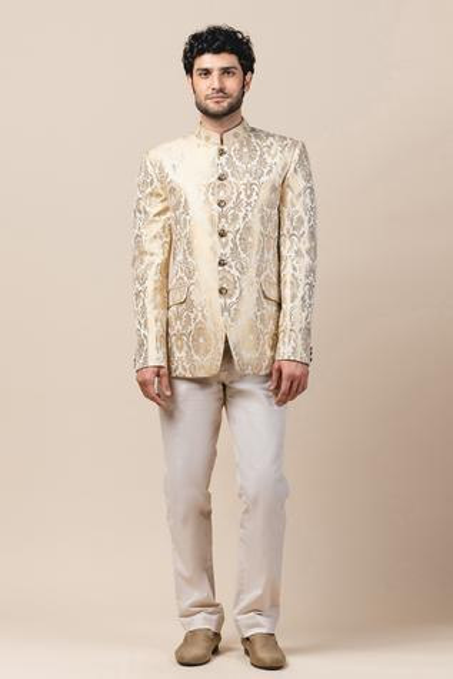 Brocade Bandhgala & Pant Set