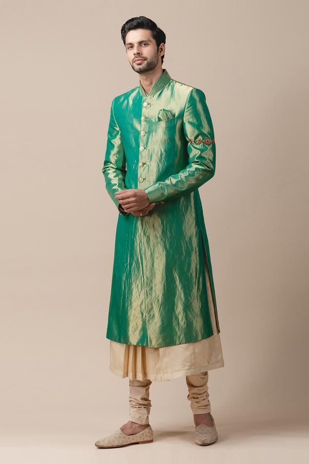 Silk Tissue Sherwani & Kurta Set