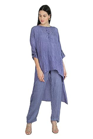 Silk Kaftan Pant Set