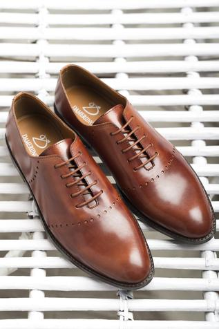 Leather Brogue Derbys
