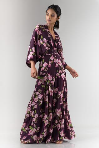Floral Print Pleated Jumpsuit
