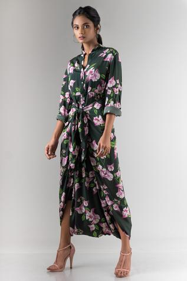 Floral Print Dhoti Jumpsuit