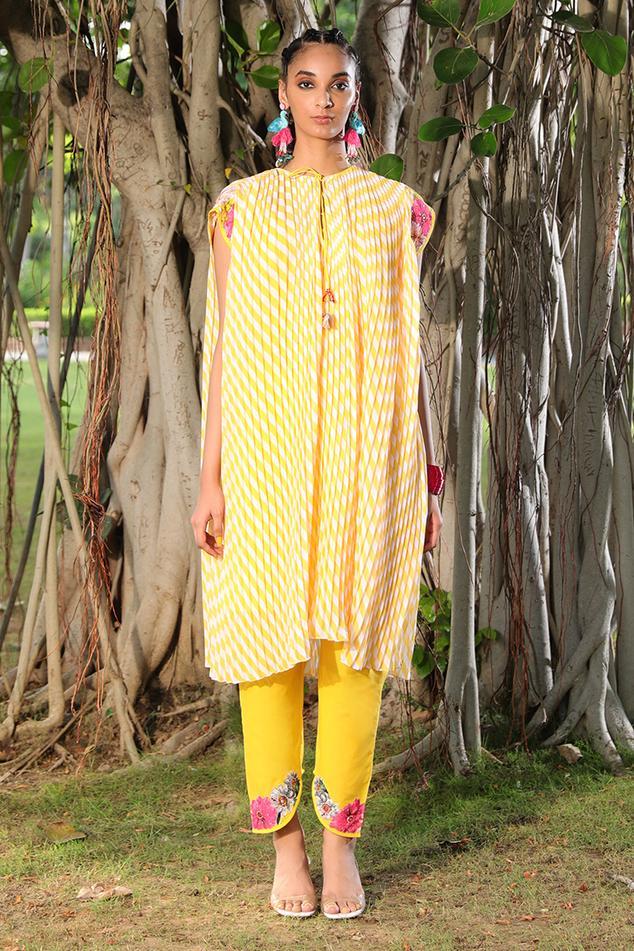 Striped Kaftan Tunic & Pant Set